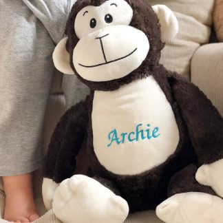Personalised Monkey Soft Toy – www.sewsian.com