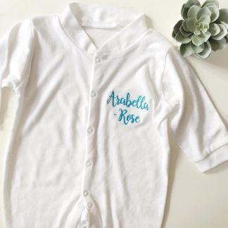 Personalised Name Sleepsuit – www.sewsian.com