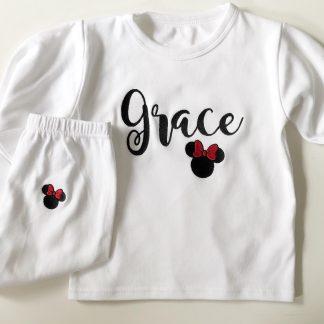 Personalised Disney Minnie Pyjamas – www.sewsian.com