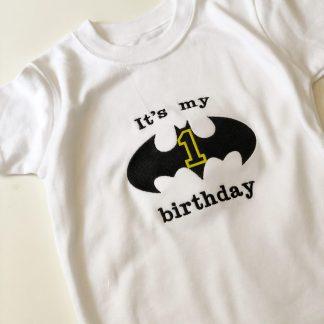 Batman First Birthday T-Shirt – www.sewsian.com