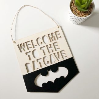 Batman Wooden Pennant Sign – www.sewsian.com