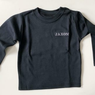 Personalised Black Long-Sleeved T-Shirt – www.sewsian.com