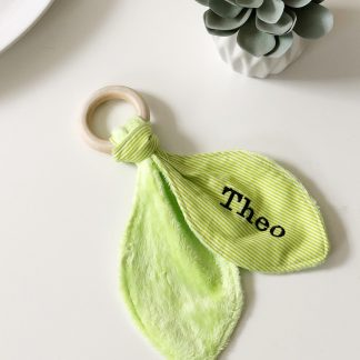 Outlet Personalised Theo Teething Ring – www.sewsian.com