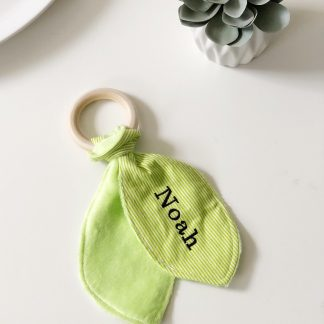 Outlet Personalised Noah Teething Ring – www.sewsian.com