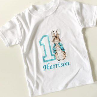 Personalised Peter Rabbit One Birthday T-Shirt – www.sewsian.com