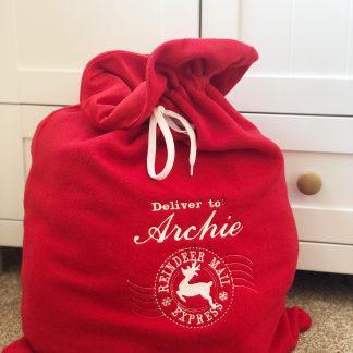 Personalised Christmas Santa Sack – www.sewsian.com