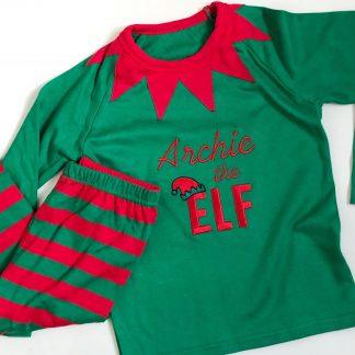 Personalised Christmas Elf Pyjamas – www.sewsian.com