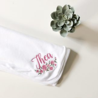 Personalised Floral Blanket – www.sewsian.com