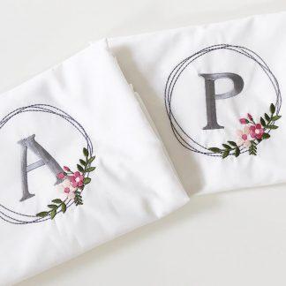 Personalised Floral Wreath Pillowcase Set – www.sewsian.com