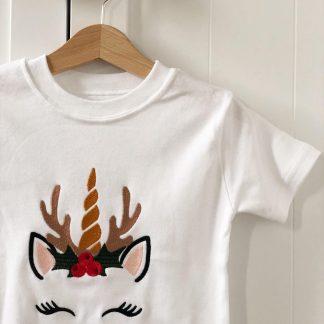 Christmas Unicorn T-Shirt – www.sewsian.com