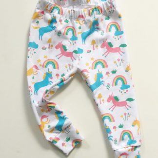 Children's White Unicorn Leggings – www.sewsian.com