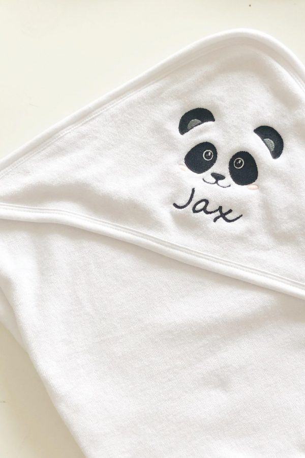 Personalised Panda Hooded Towel – www.sewsian.com