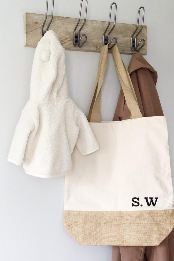 Personalised Initial Canvas Tote – www.sewsian.com