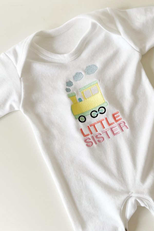 Brother/Sister Train Romper – www.sewsian.com
